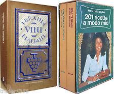 MIGLIARI Invito al vino + 201 Ricette a modo mio MURSIA + I grandi vini italiani