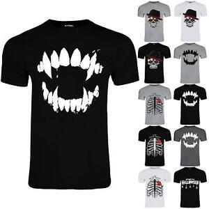 Mens Halloween Printed Short Sleeve Stretchy Crew Neck Horror T Shirt Tees Top
