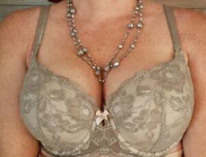 Body by Victoria Secret 38DD lined Demi Buste Double lace sexy underwire bra EUC