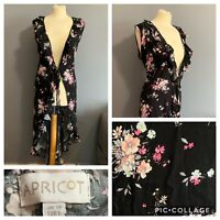 Women's Size 14 Apricot Beautiful Floral Maxi Sleeveless Summer Casual Dress
