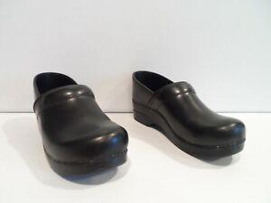 Dansko Professional Black Cabrio Womens Clogs Size EU 40 Leather Shoes 806020202