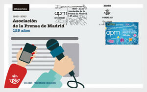 spain 2021 espagne 125 Years Madrid Press Association microphone mobile 1v FDC