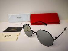 3d9e1725589e Fendi Black Round Unisex Sunglasses for sale