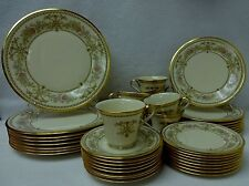 LENOX china CASTLE GARDEN pattern 40-piece SET SERVICE for Eight (8)