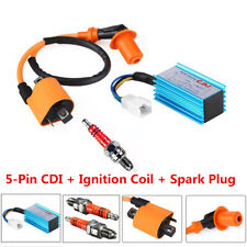 High Performance Racing CDI 5 Pin + Ignition Coil +Spark Plug 50-160cc Universal