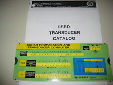 Sonar Transducer Catalog by Navy Laboratory and Sonar Slide Rule Computer