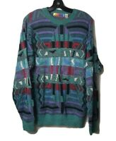 Saturday's Vtg Cosby Biggie Hip Hop 80s 90s 3D Textured Sweater Size L