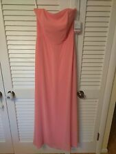 After Six SZ 10 Pink Chiffon Dress 6275 Bridesmaid Formal Gown Homecoming Cruise