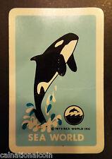 Sea World Souvenir Joker Playing Card 1973