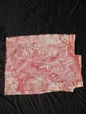 Toile de Nantes Indienne Ancienne Ange Epoque XVIIIè 18th C Antique Textile Jouy