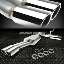 """FOR 97-01 AUDI A4 1.8T 4""""DOUBLE WALLED DUAL ROUND CUT TIP CATBACK EXHAUST SYSTEM"""