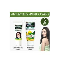 Roop Mantra Anti Acne Combo Zero Pimple Gel 15gm + Lime & Mint Face Wash 50ml