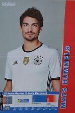 MATS HUMMELS - A3 Poster (ca. 42 x 28 cm) - Fußball EM 2016 Clippings Sammlung