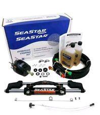 SeaStar Teleflex HK6400A-3 + HO5112 12' Hoses Hydraulic Outboard Steering KIT
