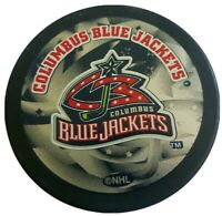 COLUMBUS BLUE JACKETS INGLASCO HOCKEY PUCK NHL MADE SLOVAKIA HARD TO FIND LOGO!