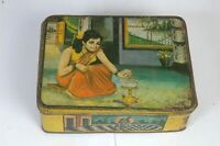 Collectible Vintage Old Indian Spice Asafoetida Rare Special Ad Litho Tin Box