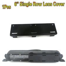 1x 6 inch Lens Cover Snap on Black for Single Light Bar 4D 5D 6D LED Work Lights