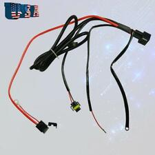 1x H11 880 Relay Wiring Harness HID Conversion Kit Add-On Fog Lights DRL LED