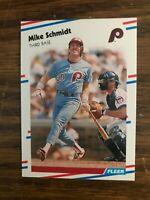 1988 Fleer  #315  Mike Schmidt Philadelphia Phillies   NrMt
