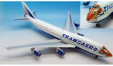 INFLIGHT 200 IF7440915 B747 TRANSAERO CARING FOR TIGERS TOGETHER EI-XLN W/STAND