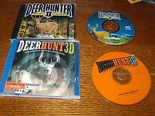 Deer Hunter II The Hunt Continues! (PC, 1998) & Deer Hunter 3D (PC, 1998) Games