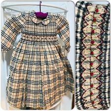 BURBERRY CHILDREN GIRLS DRESS NOVA CHECKERED FLORAL SIZE 2