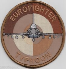 RAF Royal Air Force Eurofighter Typhoon Target Desert Embroidered Badge Patch