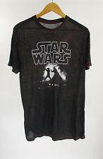 Star Wars Luke Vs Darth Vader T-shirt Black Red Sheer Graphic Tee Size M Medium