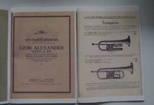 Gebrüder Alexander - Reprintkatalog aus den 1930er Jahren