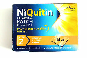 NiQuitin Clear 14mg Patch Nicotine - STEP 2 - 7 Patches best before date 02/2022