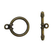 LOT 10 fermoirs toogles en métal couleur bronze,perle,fimo,bijoux -fma046