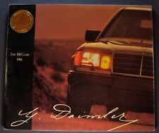 1986 Mercedes Benz Large 32pg Brochure 300 E 300 D Turbo Excellent Original 86