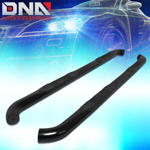 """FOR 2015-2018 COLORADO/CANYON CREW CAB BLACK 3""""ROUND TUBING NERF BAR STEP BOARDS"""
