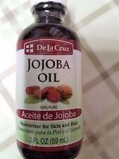 De La Cruz Jojoba Oil 100 % Pure Moisturizer for Skin and Hair 2 fl oz Made USA