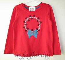 HANNA ANDERSSON Get Appy Tee Top Shirt Red Wreath 110 5 NWT