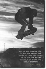 Skateboarding Motivacional impresión 01 motivación citar Cartel Patineta Skate