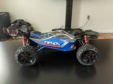 Arrma AR106028 1/8 Typhon 6S BLX 1/8 4WD Buggy RTR Blue Silver Duratrax Tires