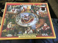 NEW WHITE MOUNTAIN  MERRY CHRISTMAS TO ALL PUZZLE 1000 PC SEALED MULTI PICTURE