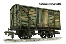 Dapol 12t BR Grey Planked sided vent van wagon *WEATHERED LOOK*