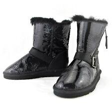 (Rare) Ugg Australia Kids Blaise Patent Black Boots #1004137K Kid's Size 13