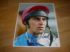 Alan Munro horse racing jockey jun 92 signé main original press photo
