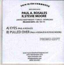 (CB924) Paul A Rosales / R Stevie Moore, Eyes - 2011 DJ CD