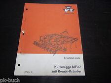 Ersatzteilliste ET Katalog Massey Ferguson Kulturegge MF 37 mit Kombi Krümler