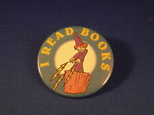 """""""I Read Books"""" Lot of 5 Buttons pins Wizard reading New"""