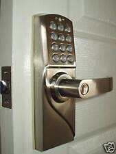 Solid Weatherproof Keyless Entry Electronic Digital Code Door Lock Right Handed