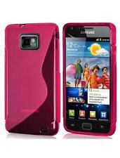 S-line Rosa Gel piel caso para Samsung i9100 Galaxy S Ii