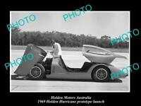 OLD POSTCARD SIZE PHOTO OF GMH HOLDEN HURRICANE PROTOTYPE LAUNCH c1969 3