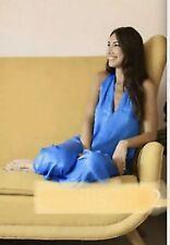 Zara Bluish Flowing Satin Jumpsuit Size M UK12 Bnwt