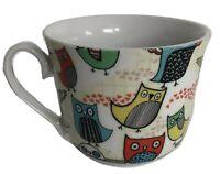 Creative Tops Coffee Mug Tea Cup Owls Fun Cute Colorful Doodles large latte
