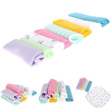 8Pcs Lot Baby Infant Newborn Soft Bath Towel Feeding Bibs Wipe Wash Cloth New
